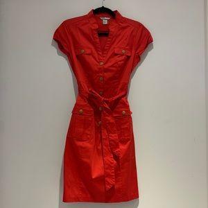 H&M | Red Utility Tie Waist Dress